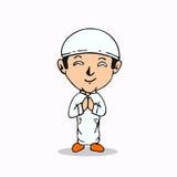 Fumetto musulmano Fotografia Stock