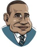 Fumetto Obama Immagini Stock