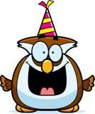 Fumetto Owl Birthday Party Fotografia Stock Libera da Diritti