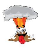 Fumetto pazzo del vulcano Immagini Stock Libere da Diritti