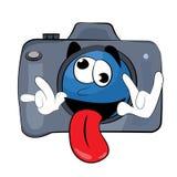 Fumetto pazzo della macchina fotografica illustrazione vettoriale