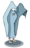 Fumetto Person Dressed come fantasma Immagine Stock