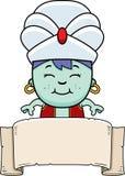 Fumetto piccola Genie Banner royalty illustrazione gratis