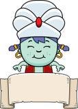 Fumetto piccola Genie Banner illustrazione vettoriale