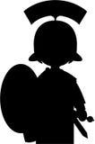 Fumetto Roman Soldier Silhouette Fotografie Stock Libere da Diritti