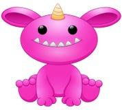 Fumetto rosa sveglio del mostro Fotografia Stock