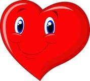 Fumetto rosso del cuore Fotografia Stock Libera da Diritti