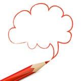 Fumetto rosso disegnato con la matita Fotografia Stock Libera da Diritti