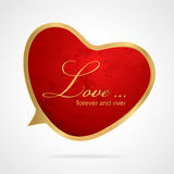 Simbolo rosso di forma del cuore. Carta di regalo di vettore Fotografie Stock Libere da Diritti