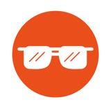 Fumetto rotondo degli occhiali da sole dell'icona Immagine Stock