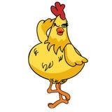 Fumetto sciocco 02 del pollo Fotografie Stock