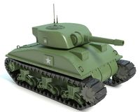 Fumetto Sherman Tank Fotografie Stock
