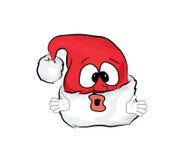 Fumetto sorpreso del cappello di Natale Immagine Stock Libera da Diritti