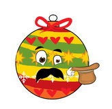 Fumetto sorpreso del giocattolo dell'albero di Natale Fotografia Stock Libera da Diritti
