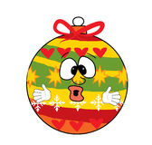 Fumetto sorpreso del giocattolo dell'albero di Natale Immagine Stock Libera da Diritti
