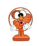 Fumetto sorpreso del ventilatore da tavolo Immagine Stock