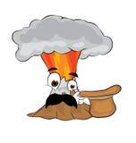 Fumetto sorpreso del vulcano Immagine Stock