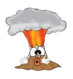 Fumetto sorpreso del vulcano Immagini Stock