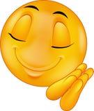 Fumetto sorridente dell'emoticon di sonno Immagini Stock Libere da Diritti