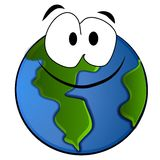 Fumetto sorridente della terra del pianeta illustrazione di stock