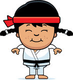 Fumetto sorridente Karate Kid illustrazione di stock