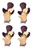 Fumetto stabilito del ritratto di Gnome Immagine Stock