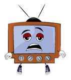 Fumetto stanco della TV Fotografie Stock Libere da Diritti