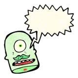 fumetto straniero della testa del mostro Fotografia Stock