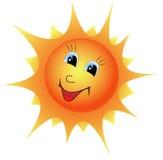 Fumetto Sun Fotografia Stock Libera da Diritti