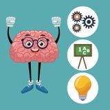 Fumetto sveglio del cervello royalty illustrazione gratis