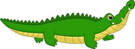 Fumetto sveglio del coccodrillo Fotografia Stock Libera da Diritti