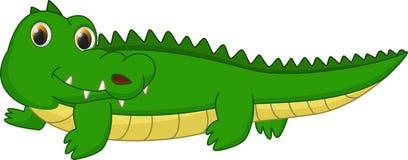 Fumetto sveglio del coccodrillo Immagini Stock