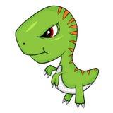 Fumetto sveglio del dinosauro di T-Rex del bambino illustrazione di stock