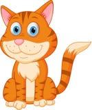 Fumetto sveglio del gattino illustrazione di stock