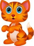 Fumetto sveglio del gatto Immagini Stock