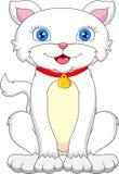 Fumetto sveglio del gatto Fotografia Stock Libera da Diritti
