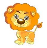 Fumetto sveglio del leone Immagine Stock Libera da Diritti