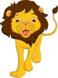 Fumetto sveglio del leone illustrazione vettoriale