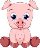 Fumetto sveglio del maiale illustrazione di stock