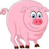 Fumetto sveglio del maiale Fotografie Stock