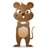 Fumetto sveglio del mouse Fotografie Stock