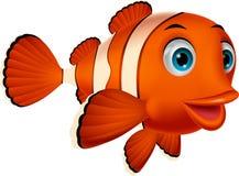 Fumetto sveglio del pesce del pagliaccio Fotografia Stock Libera da Diritti
