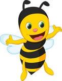 Fumetto sveglio dell'ape Immagini Stock