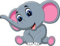 Fumetto sveglio dell'elefante royalty illustrazione gratis