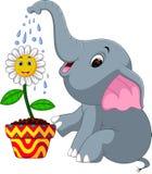 Fumetto sveglio dell'elefante illustrazione vettoriale