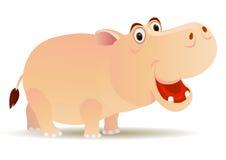 Fumetto sveglio dell'ippopotamo Fotografie Stock