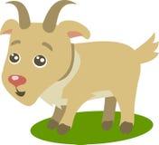 Fumetto sveglio della capra illustrazione di stock