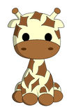 Fumetto sveglio della giraffa Immagine Stock