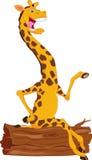 Fumetto sveglio della giraffa Fotografie Stock Libere da Diritti