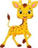 Fumetto sveglio della giraffa royalty illustrazione gratis